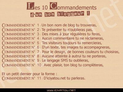 parodie 10 commandements